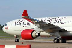 Virgin Atlantic Airways Airbus A330-223 G-VLNM BHX 05/09/18 (bhx_flights) Tags: virgin virginatlantic airbus airport maintenance airbusa330 airbus330 bhx egbb birmingham birminghamairport