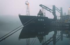 Dark reflections (BigWhitePelican) Tags: helsinki finland ruoholahti sea reflections morning fog canoneos70d adobelightroom6 niktools 2018 september