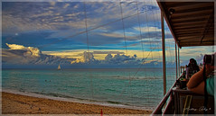 A view from Beach Bar at Newport Pier. (Aglez the city guy ☺) Tags: newportpier pier beach afternoon colors clouds beachscape beachshore sand seashore seascape urbanexploration miamifl sunnyislesbeach outdoors walkingaround waterways