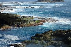 La matin à Shihtiping (6) (8pl) Tags: mer océan eau bleu côte pierre roche rochers paysage paysagemarin baie agitation vagues shihtiping taïwan 石梯坪