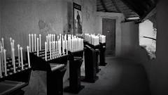 Santuario di San Romedio  - Sanzeno  - Trentino   - Italia (amos.locati) Tags: amos locati san romedio sanzeno trentino italia candele candles italy monastero santuario black white alb negru blanc noir blanco negro