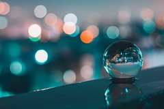 City of Bokeh (ibtihajtafheem) Tags: lensball lensballphotography throughthelensball lens crystalball crystalballphotography glassball cityscape city lighter lights light lightphotography longexpo lighttrails longexposure long longexpoelite longexposuresunset longexposures mirror up down bokeh