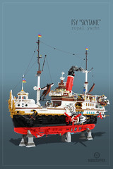 "Royal Yacht ""Skytanic"" (Markus ""madstopper78"" Ronge) Tags: moc legosteampunk toyphotography legopotsdam fullsteamlego steampunk steampunklego afol netbrix legophotography legofan"