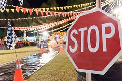 Stop (Kamran (Kami Kay Images)) Tags: stopsign trafficsign board red warning rules childrencrossing xing theme party babysfirstbirthday kids giftforkids cone racetrack racingcartheme nighttime highiso
