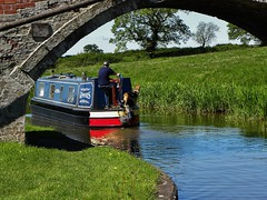 Where are we going (Eddie Crutchley) Tags: europe england cheshire brassygreen outdoor canal barge bridge narrowboats sunlight simplysuperb greatphotographers