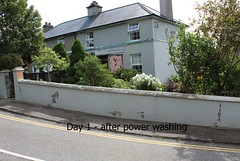Exterior painting Clonakilty, after power wash