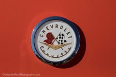 Chevrolet Corvette bonnet badge 1950's (christopherread490) Tags: croxleygreen england unitedkingdom