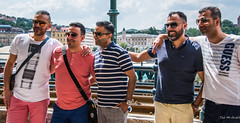 2018 - Hungary - Budapest - 5 Guys (Ted's photos - For Me & You) Tags: 2018 budapest cropped hungary nikon nikond750 nikonfx tedmcgrath tedsphotos vignetting budapesthungary sunglasses glasses teeth dents pose posing boys five fiveboys males smile smiling
