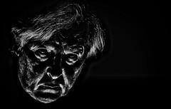 Attempt at Self-Portraiture (Phancurio) Tags: selfportrait monochrome bestportraitsaoi