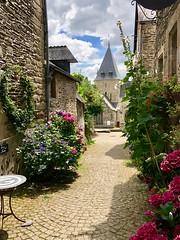 Rochefort en Terre - Morbihan - Bretagne (Jean Paul Renais) Tags: rochefortenterre morbihan bretagne village rue église fleur
