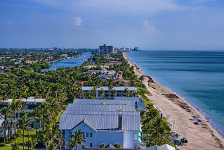 View of the town of Hillsboro Beach, Broward County, Florida, USA