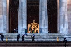Washington DC last winter (ravalli1) Tags: washington usa history lincoln memorial statue districtofcolumbia nikon travel vacation snow winter