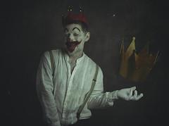 The clown of the crowns. (jcalveraphotography) Tags: selfportrait selfie serie surrealism portrait photo photographer projects people picture person clown creative conceptual conceptualimage crown 365 explore 365days eyes makeup