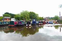 New Mills Marina,  Peak Forest Canal   August 2018 (dave_attrill) Tags: marina newmills barges peakforest canal bugsworthbasin towpath derbyshire buxworth horsedrawn water boat august 2018 peakdistrict nationalpark