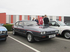 Ford Capri 2.8 Injection Special D281WYJ (Andrew 2.8i) Tags: haynes motor museum breakfast meet sparkford yeovil somerset show classic classics cars car autos sports sportscar v6 cologne coupe hatch hot hatchback mark 3 mk mk3 special injection 28 2800 capri ford