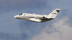N516KM Cessna Citation CJ3 - LXT - Pico Cellular Communications (Explored) (Lynn Tweedie) Tags: 7dmarkii missouri airplane sigma150600mmf563dgoshsm leessummitmunicipalairport sky canon jet plane clouds