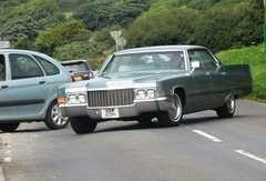 1970 Cadillac DeVille (occama) Tags: abw103h 1970 cadillac deville old car cornwall uk american green gm usa land yacht
