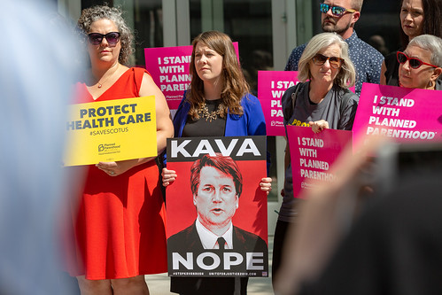 From flickr.com: Protesters against the confirmation of U.S. Supreme Court nominee Brett Kavanaugh outside the Warren E., From Images