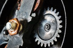 A little rusty (susacu) Tags: cogwheels macromonday