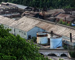 Stone Arch Bridge, Warehouse and Industrial area in Johnstown Pennsylvania (PhotosToArtByMike) Tags: johnstownpa inclinedplane pennsylvania pa johnstownpennsylvania inclined warehouse industrial inclinetracks cityofjohnstown