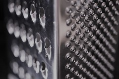 Grater (Emma Dorber) Tags: 52project2018 canoneos80d macro grater blackandwhite tabletop inthekitchen stainlesssteel