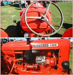 Drivers View and Engine .. (** Janets Photos **) Tags: uk driffield eastyorkshire events agriculturaltractors nuffield red collage