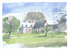 Fourdrinoy, Somme, France (Linda Vanysacker - Van den Mooter) Tags: fourdrinoy somme france frankrijk 2018 watercolor watercolour visiblytalented vanysacker vandenmooter tekening sketch schets potlood pencil lindavanysackervandenmooter lindavandenmooter drawing dessin croquis crayon art aquarelle aquarell aquarel akvarell acuarela acquerello
