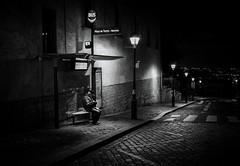 bus stop (christiandumont) Tags: streetphotography streetphoto streetlife street blackandwhite nightphoto bw noiretblanc nb night nuit paris rue ruedeparis x100f fujifilm absoluteblackandwhite