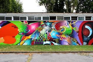 Sport center in Desio - Detail 4: graffiti lettering - by WIZ ART