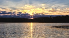Morning Wake Up (Steve InMichigan) Tags: sunrise sunrays lakesunrise morningsunrise morningsky ricohautorikenonee35mmf28 fotasym42eosmlensadapter