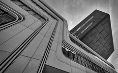 Favorite Locations (Leipzig_trifft_Wien) Tags: leopoldstadt wien österreich at pov perspective pointofview black white bnw bw architecture vienna lines geometry structure modern contemporary lookup lookingup monochrome