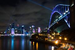 Sydney Harbour Bridge (Theo Crazzolara) Tags: sydney harbour bridge sydneyharbourbridge harbourbridge australia australien newsouthwales night light vividsydney vivid festival nikon d7200