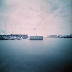 Harbour (Rosenthal Photography) Tags: dänemark ff120 color lochkamera 6x6 realitysosubtle6x6 houvig nordsee lomochromepurple100400xr hafen epsonv800 pinhole mittelformat urlaub c41 ringkobing asa100400 analog 20180710 harbour landscape seascape july summer denmark danmark sea northsea rss realitysosubtle lomo lomochrome purple epson v800
