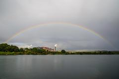 Rainbow over the steelworks (Shepard4711) Tags: scunthorpe rainbow regenbogen lake pond see steelworks stahlwerk