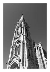 Église Saint-Lubin-et-Saint-Jean-Baptiste - Rambouillet (DavidB1977) Tags: france îledefrance yvelines rambouillet église saintlubinetsaintjeanbaptiste monochrome bw nb panasonic dmctz60