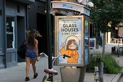 abe lincoln jr (Luna Park) Tags: ny nyc newyork manhattan adtakeover streetart abelincolnjr payphone phone booth lunapark subvertising jesuswasntadick glasshouses