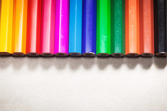 Colorful Wooden Pencils (dejankrsmanovic) Tags: wooden pencil color vivid vibrant studio object stilllife design stick pen drawing art artistic concept conceptual classical toy childhood background order row column rainbow simple copyspace closeup macro