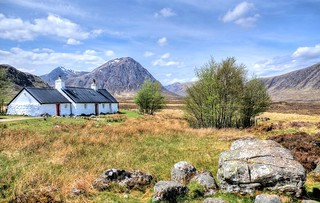 Black Rock Cottage, Glencoe, Highland, Scotland, UK