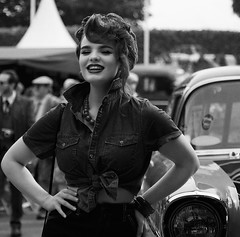 Goodwood Glamour (Bernie Condon) Tags: goodwood goodwoodrevival vintage preserved british uk greatbritain sussex glamour sexy model retro