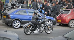 "Lady Lynda ""Living Her Dream"" (standhisround) Tags: motorcycle girl people acecafe northwestlondon london uk england motorbike harleydavidson leathers"