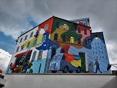 David Merveille / Bruxelles - 6 sep 2018 (Ferdinand 'Ferre' Feys) Tags: bxl brussels bruxelles brussel belgium belgique belgië streetart artdelarue graffitiart graffiti graff urbanart urbanarte arteurbano ferdinandfeys