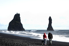 Family Time (June in Summer) Tags: overexposure beach sand blacksand iceland reynisfjara people family ocean water nature naturephotography rock travel europe