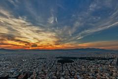 Athens – Sunset (Thomas Mülchi) Tags: mountlycabettus athens attica greece 2017 hdr atticaregion gr