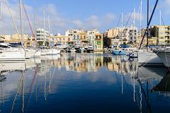 Msida Harbour, Malta. (I'mDKB) Tags: 1835mmf3545g 2016 d600 malta march msida nikon imdkb mediterranean island valetta 1835mm harbour yachts reflections spring lightroom5 lr5