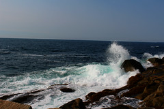 The Shape of Water (Julianne Baker) Tags: rocks rock seaweed crash splash wave waves nova scotia peggys cove canada ocean atlantic blue white swirl tourism beautiful water teal