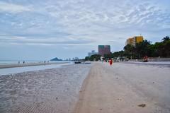 Cloudy morning on the beach in Hua Hin, Prachuap Khiri Khan, Thailand (UweBKK (α 77 on )) Tags: beach clouds cloudy morning grey sky water ocean gulf tide hua hin huahin prachuap khiri khan province wet sand thailand southeast asia sony alpha 77 slt dslr