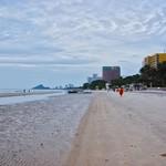 Cloudy morning on the beach in Hua Hin, Prachuap Khiri Khan, Thailand thumbnail