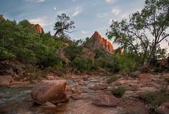 Watchman II (sberkley123) Tags: longexposure utah nikon zionnationalpark river virgin zion colors sunset usa d850 1424mm watchman