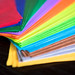 Array of tissue paper colors