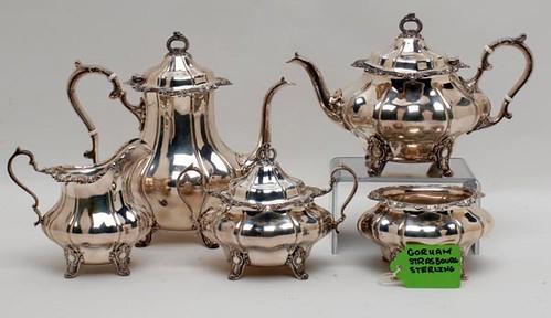Gorham STRASBOURG STERLING 5 piece tea service ($1,624.00)